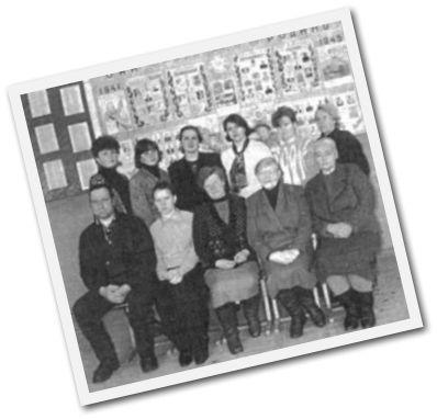 Коллектив учителей в 2000 г.