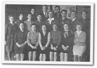 Коллектив учителей в 1963 г.