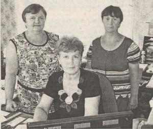 (слева направо) Л.М. Сурханова, Н.М. Кол- басина и И.В. Терентьева.