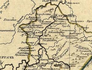 Бортсурманы на карте Симбирского наместничества 1792 года